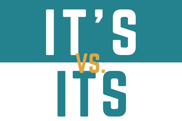 It's vs. Its: Let's Get It Straight