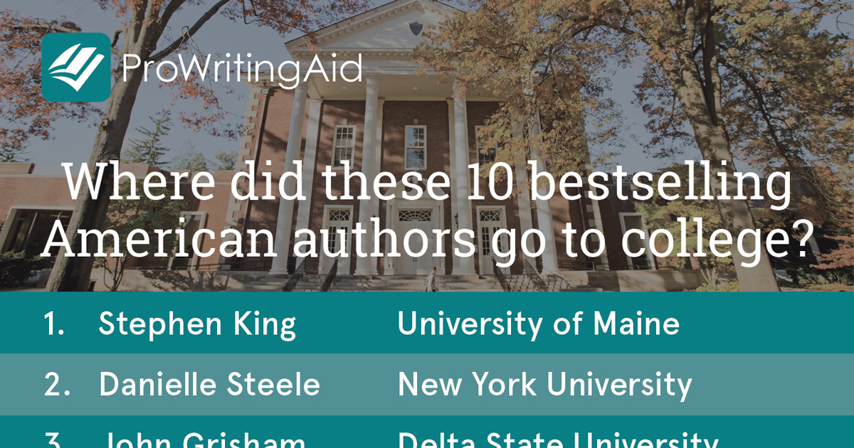Infographic: Where Did These 10 Bestselling Authors go to College?