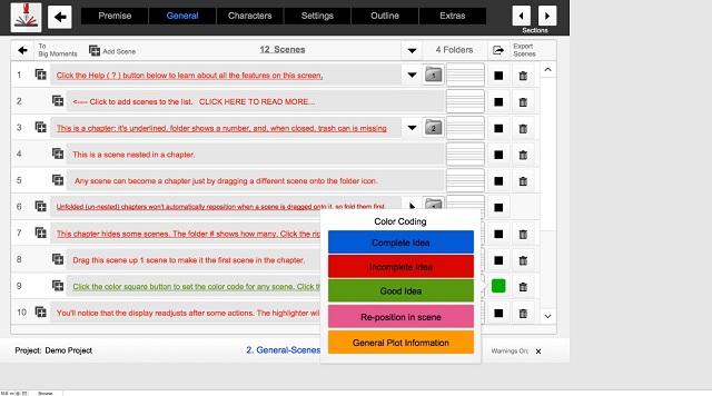 Outlining Your Novel Workbook Screenshot