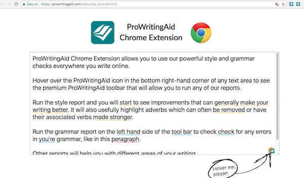 Getting Started with the ProWritingAid Chrome Extension