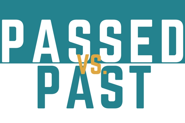 Passed vs Past