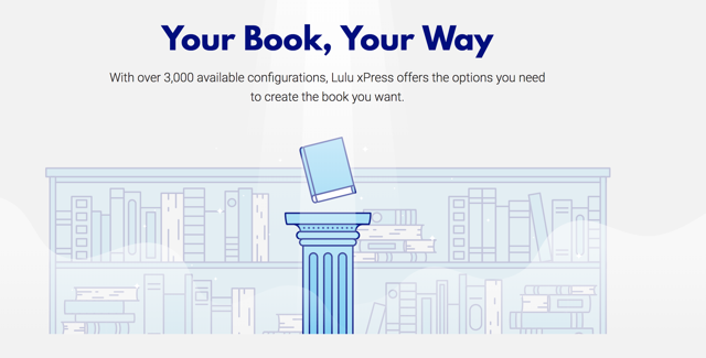 Lulu offers flexible options to publish your book