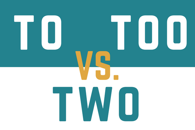 To vs. Too vs. Two